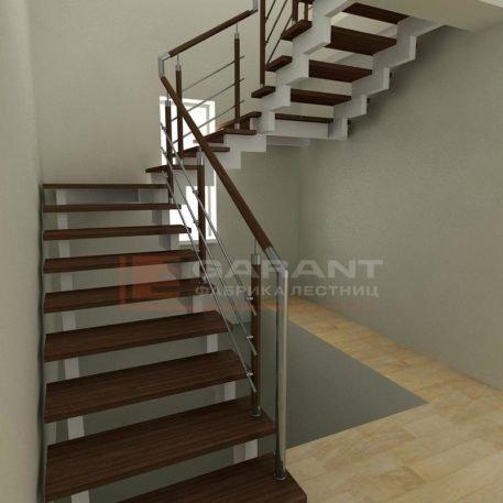 лестница п-образная с площадками