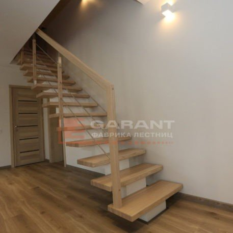 лестница прямая на монокосоуре