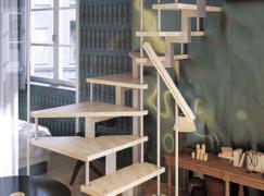 модульная лестница с установкой
