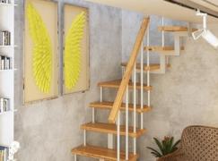 Модульная лестница (с поворотом 90 градусов)