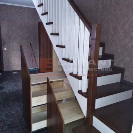 деревянная г-образная лестница