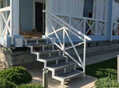 лестница на крыльцо белая